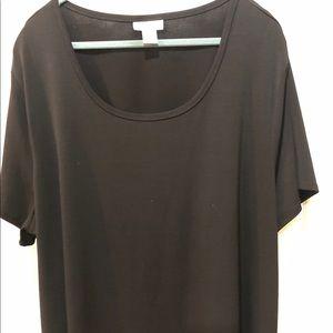 Avenue Short Sleeve Black Polyester Top 26/28